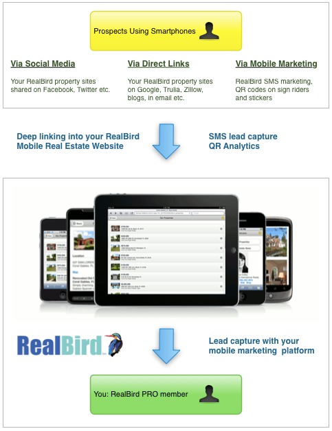 RealBird Mobile Real Estate Marketing Platform